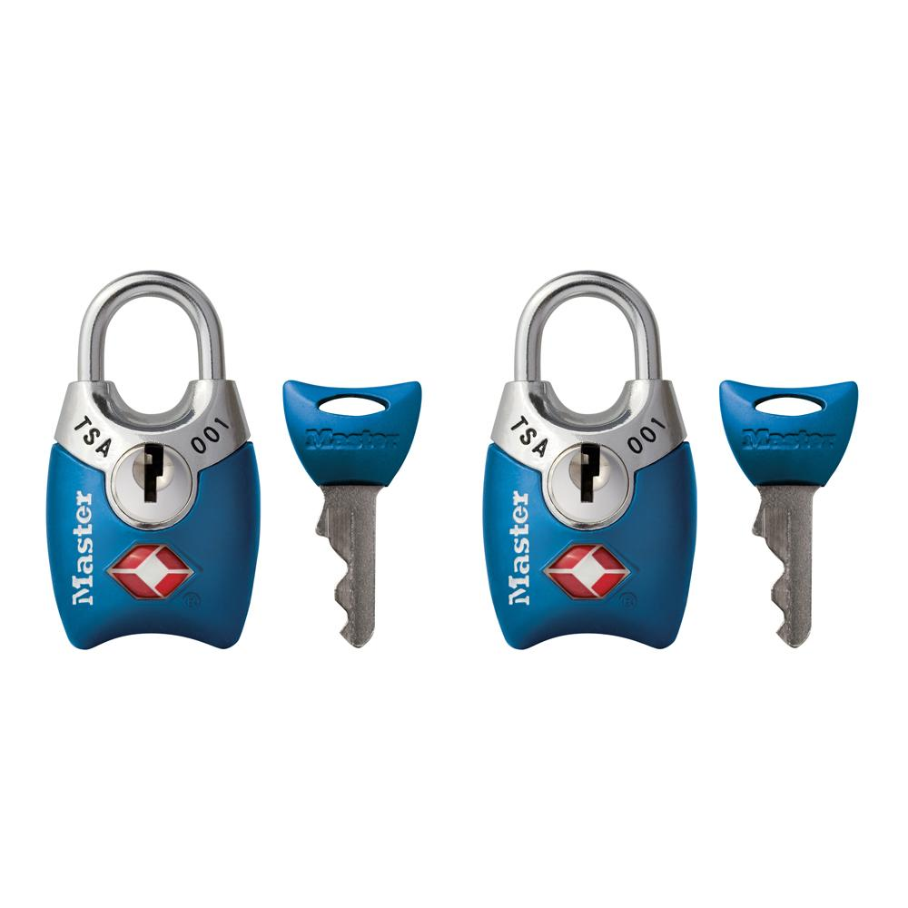 CheckOutStore.com [FG-MPADLOCK] Master Lock Padlock 4689T 1in (25mm) Wide Tsa-accepted Luggage Lock with Shrouded Shackle
