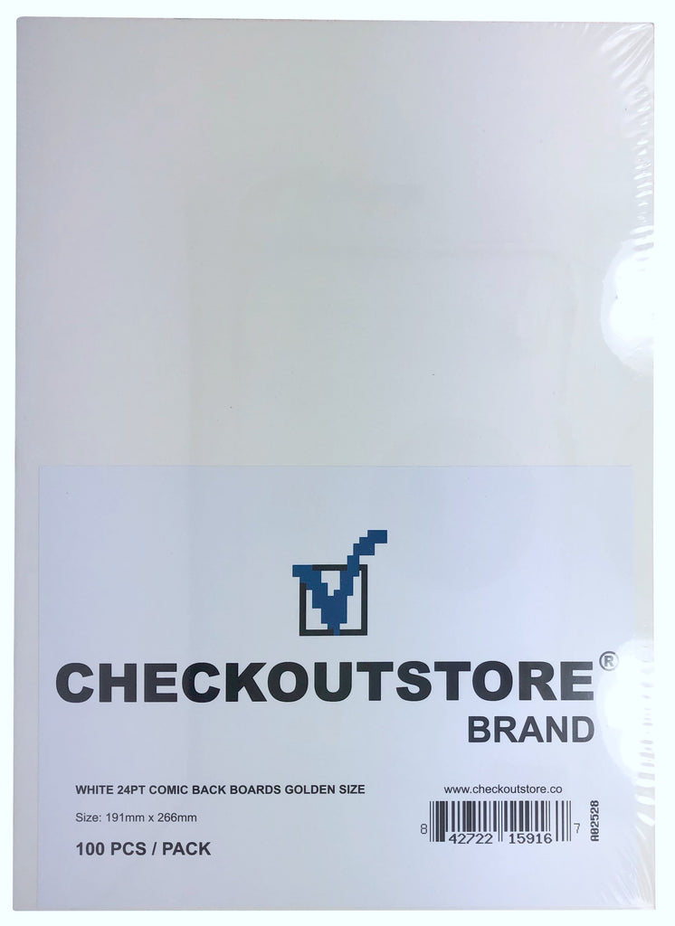 CheckOutStore Comic Supplies CheckOutStore White 24pt Golden Age Comic Books Backing Boards