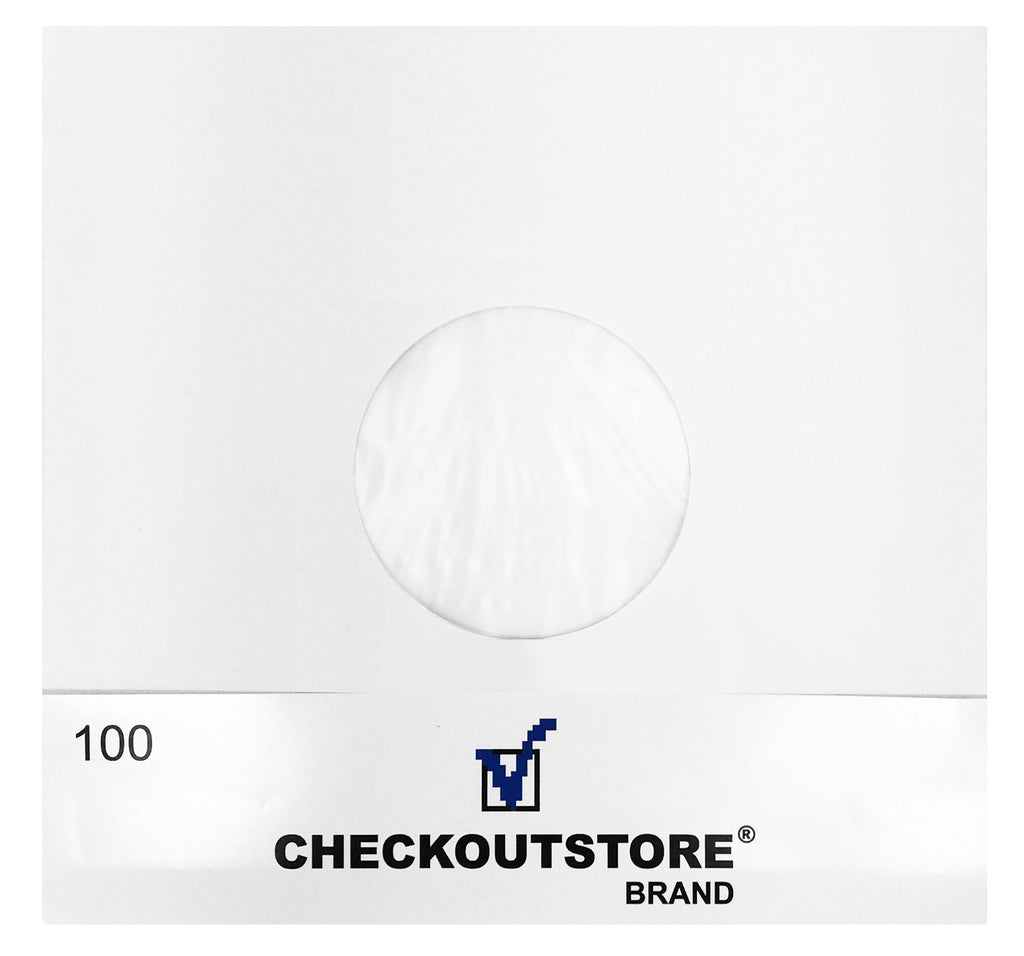 "CheckOutStore Record Inner Sleeves CheckOutStore Paper Record Polylined With Hole for 10"" Vinyl Records (Inner Sleeves)"