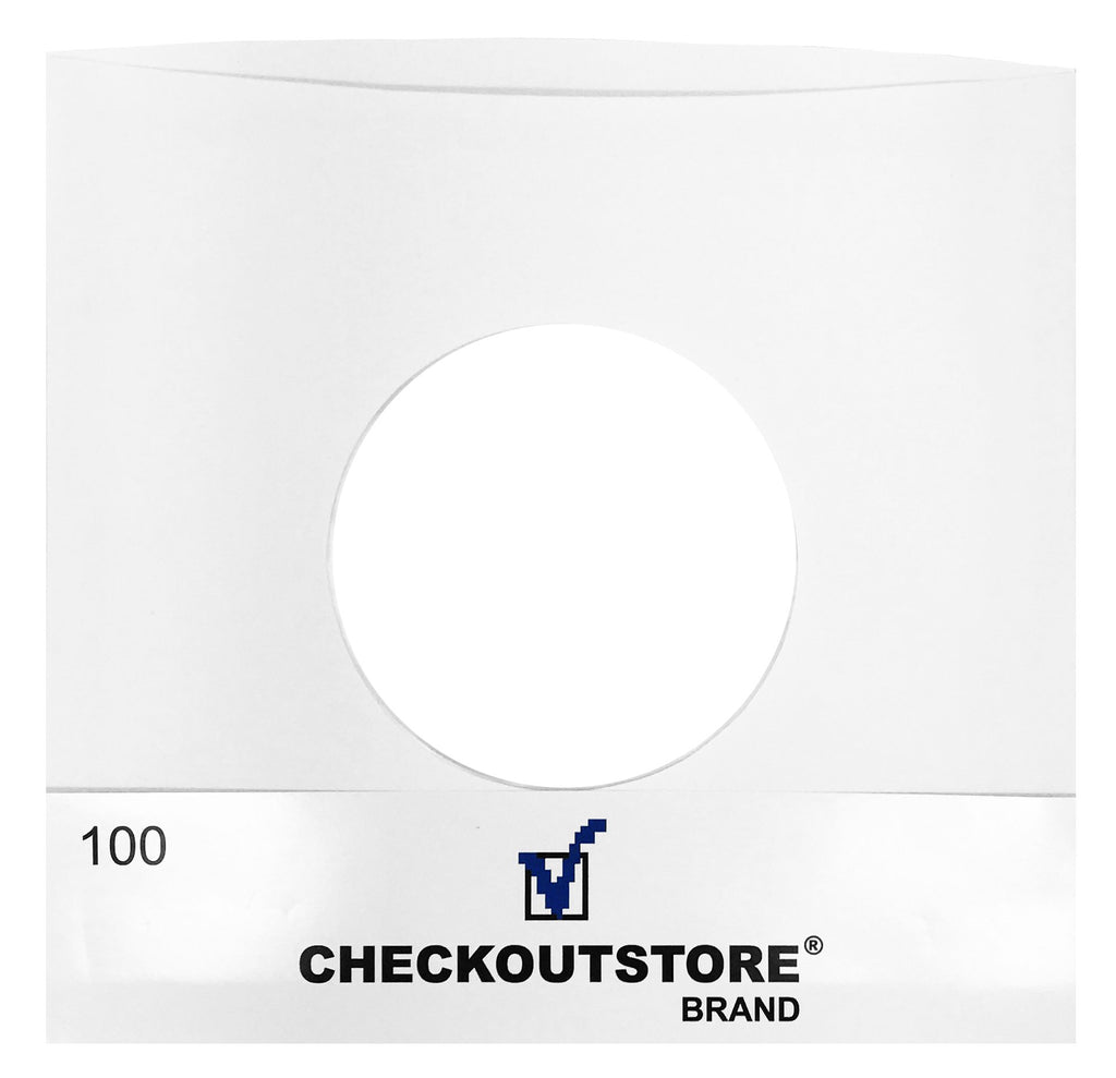 "CheckOutStore Record Inner Sleeves CheckOutStore Paper Record With Hole for 7"" Vinyl 45 RPM (Inner Sleeves)"