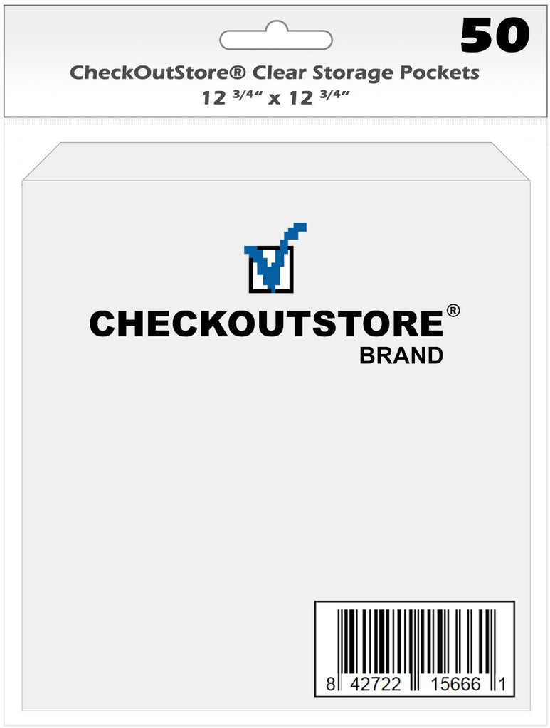 CheckOutStore Storage Pockets CheckOutStore Cardstock Clear Storage Pockets (12 3/4 x 12 3/4)