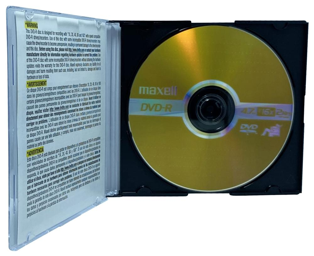 Maxell DVD-R Media Maxell 16X DVD-R 4.7GB (Maxell Logo) /w Slim CD Jewel Case