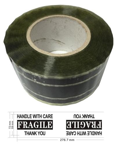 "Mediaxpo Carton Sealing Tape Industrial Carton Sealing Tape Fragile Handle with Care (3"" x 220 Yds 2.2 Mil)"