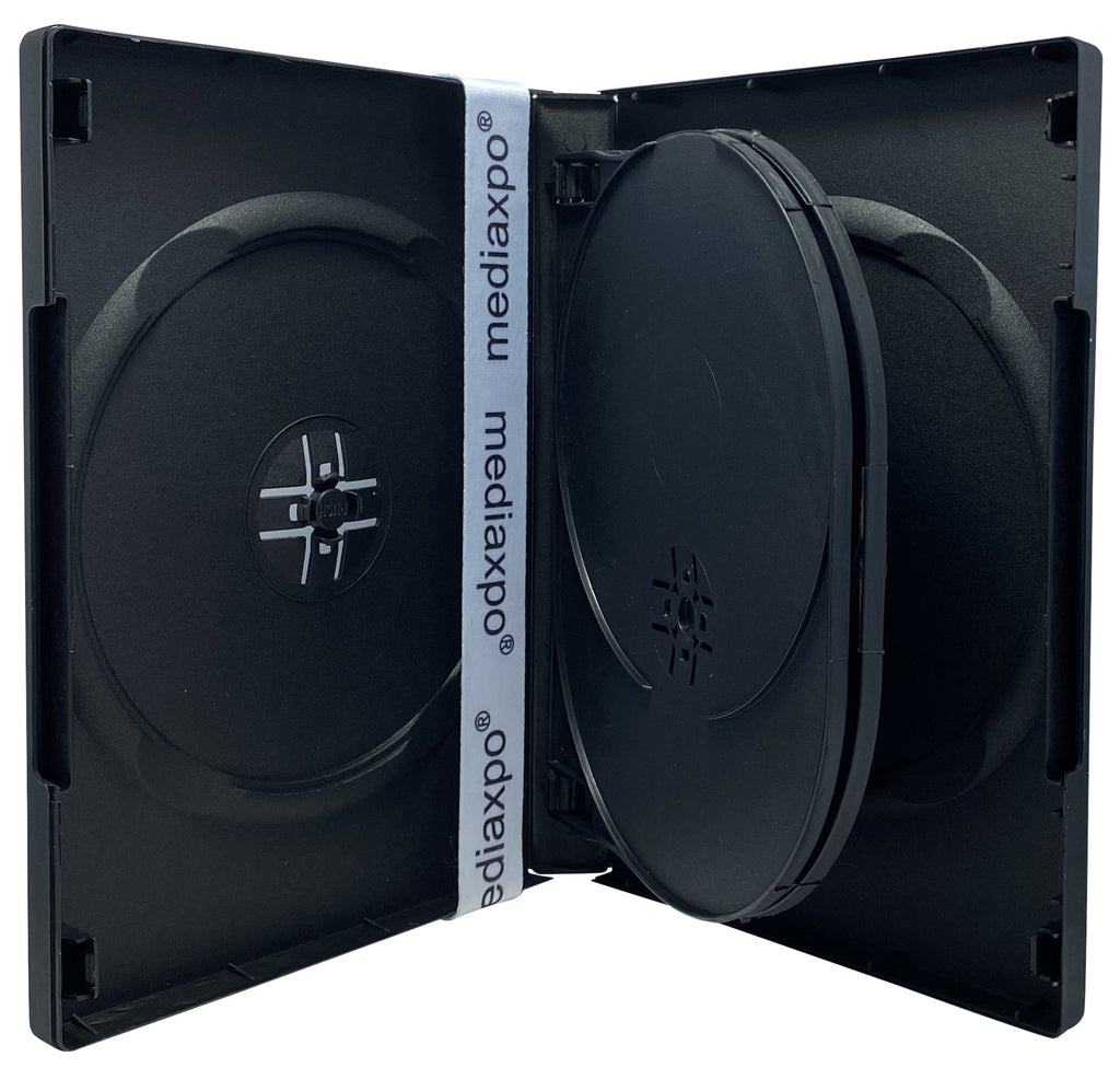 Mediaxpo DVD Cases Black 5 Disc DVD Cases