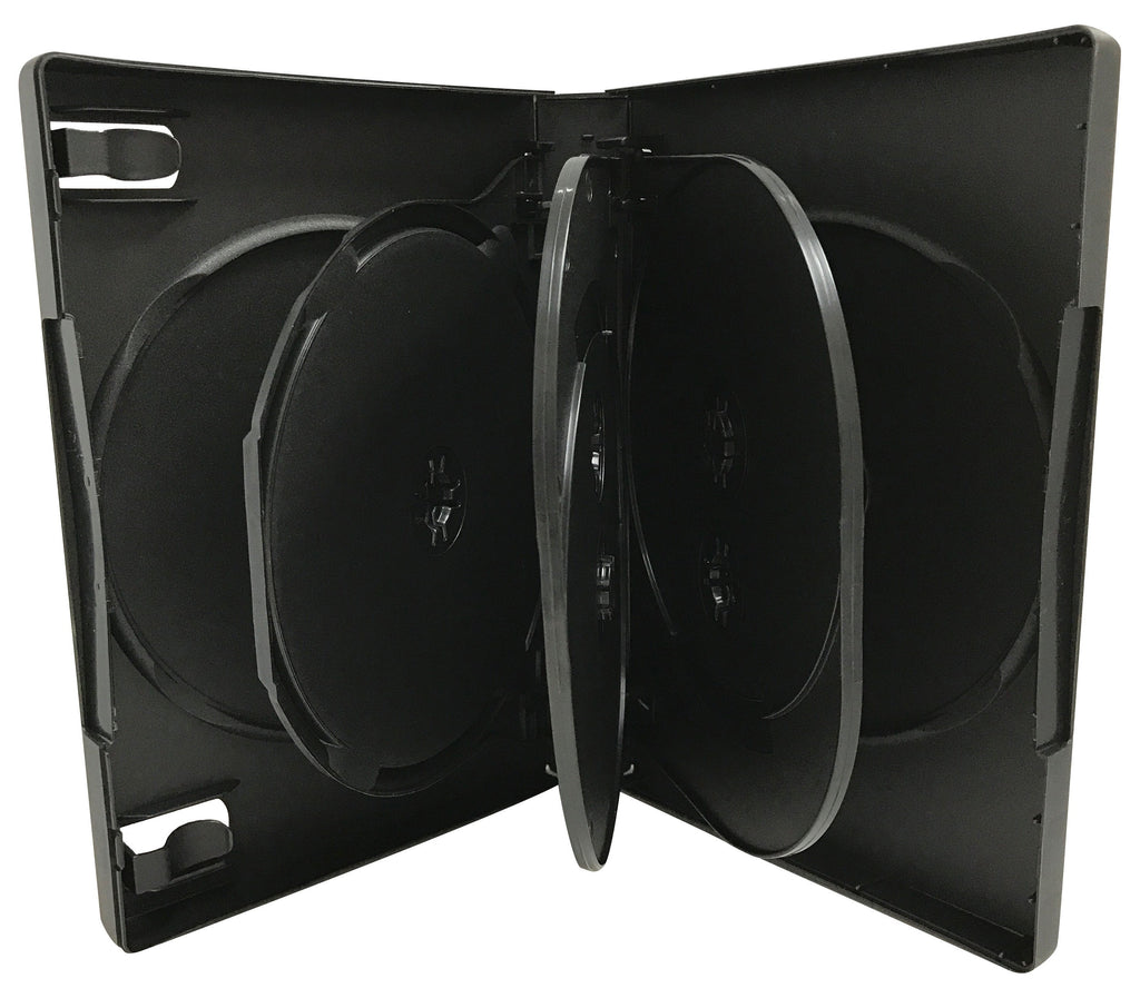 Mediaxpo DVD Cases Black 7 Disc DVD Cases /w Patented M-Lock Hub