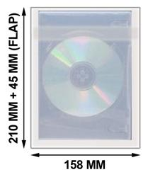 Mediaxpo OPP Plastic Bags OPP Plastic Wrap Bag for 5/6 Disc DVD Cases 22mm