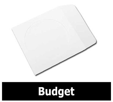 Mediaxpo Paper Sleeves BUDGET Paper CD Sleeves with Window & Flap