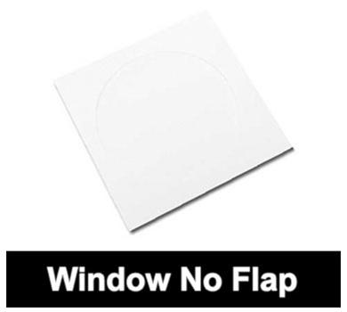 Mediaxpo Paper Sleeves Paper CD Sleeves with Window (No Flap)