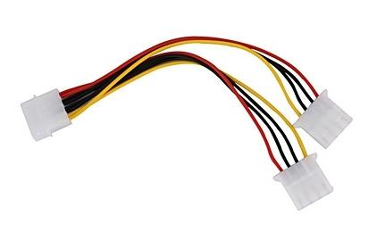 "Mediaxpo Power Cable 7.75"" MOLEX 4-Pin 1-to-2 Splitter Power Cable"