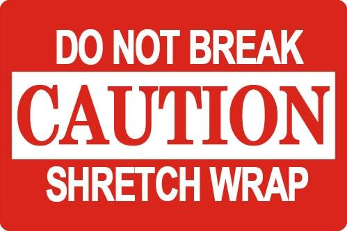 "Mediaxpo Sticker Labels 2 x 3"" Caution Do Not Break Shretch Wrap Shipping Sticker Labels"
