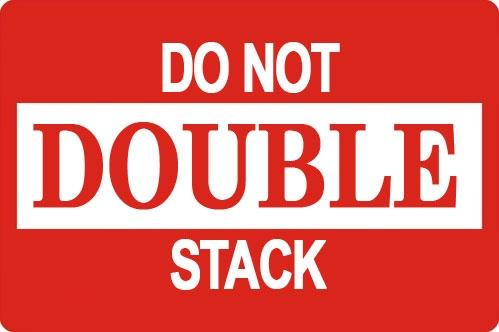 "Mediaxpo Sticker Labels 2 x 3"" Do Not Double Stack Shipping Sticker Labels"