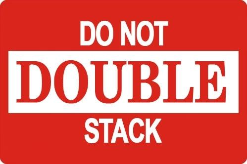 "Mediaxpo Sticker Labels 3 x 5"" Do Not Double Stack Shipping Sticker Labels"