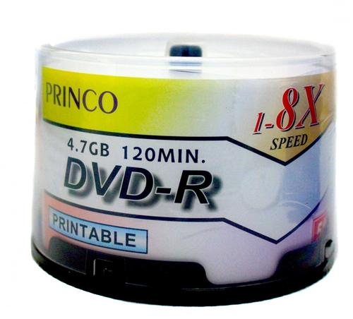 Princo DVD-R Media Princo 8X DVD-R 4.7GB White Inkjet
