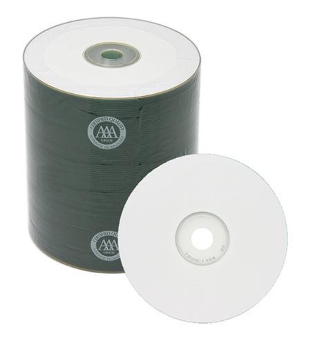 Spin-X CD-R Media Spin-X 52x CD-R 80min 700MB White Inkjet Printable