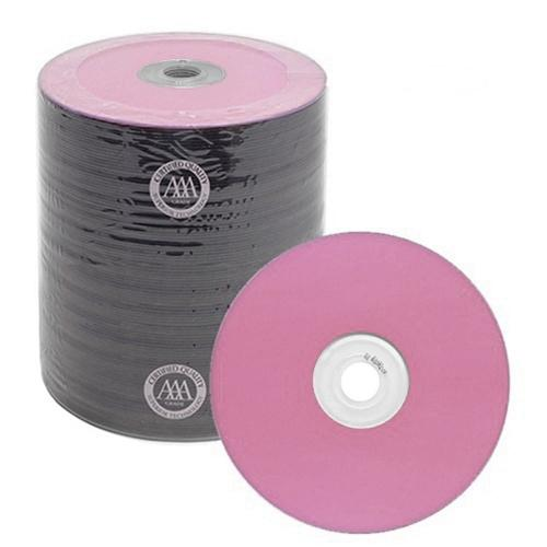 Spin-X CD-R Media Spin-X Diamond Certified 48x CD-R 80min 700MB Pink Color Top Thermal