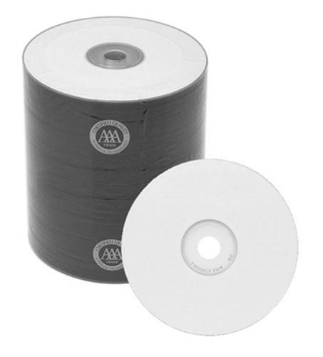 Spin-X CD-R Media Spin-X Diamond Certified 48x CD-R 80min 700MB White Inkjet Printable