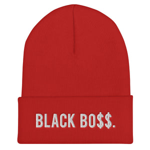 Black Boss Logo - Cuffed Beanie