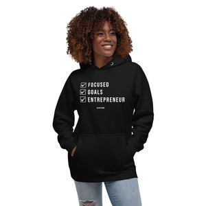Focused, Goals, Entrepreneur - Women's Hoodie