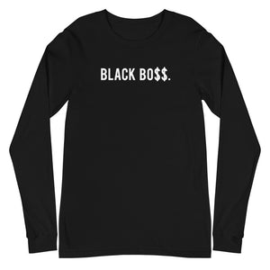 Black Boss Logo - Unisex Long Sleeve Tee