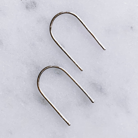 pivot | sterling silver arc earrings