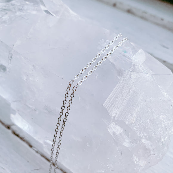 sterling silver cable chain | 16