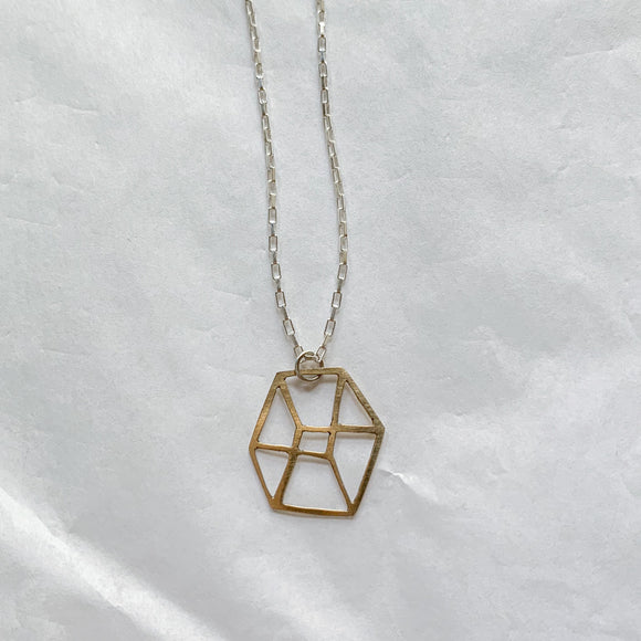 2-D cube necklace