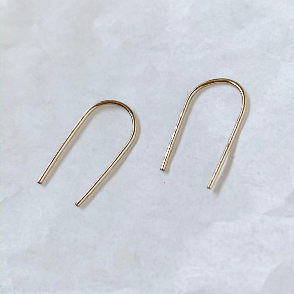 daily arc earrings in 14k gold fill