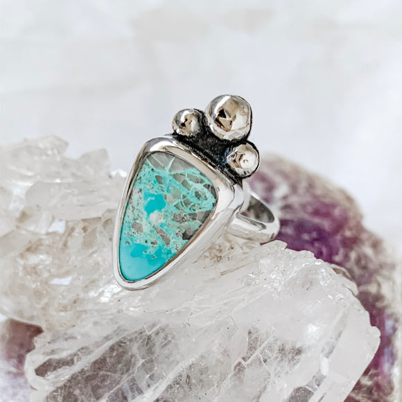 turquoise triangle ring | size 7