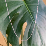 "sterling silver cable chain | 16"" - 20"""