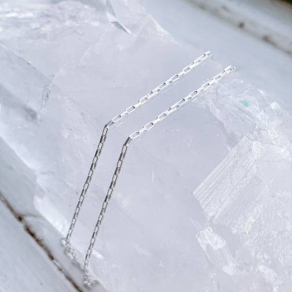 "sterling silver rectangle chain | 16"" or 18"""
