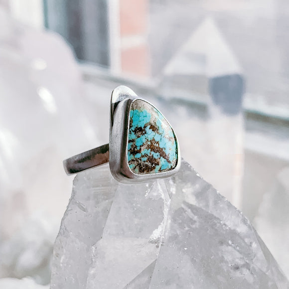 turquoise | sterling silver ring | size 7.75-8