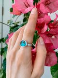 turquoise | sterling silver ring | size 5.75