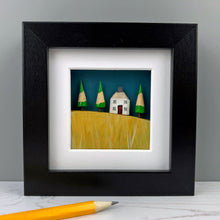 Load image into Gallery viewer, Miniature Mixed Media Picture - Corn Field Landscape