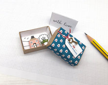 Load image into Gallery viewer, Miniature Wooden House in Gift Box - Little Pencil House, Choice of Colours