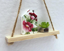 Load image into Gallery viewer, Floral House and Plant Shelf Greeting Card - Handmade A6 Card - Suitable for any Occasion