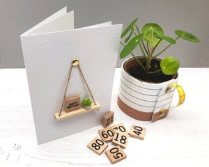 Handmade A6 Greeting Card, Suitable for any Occasion. Choice of Scrabble Tile Greeting