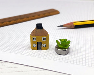 Miniature Wooden House in Gift Box - Little Pencil House, Choice of Colours