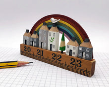 Load image into Gallery viewer, Rainbow Vintage Ruler Street with Bird