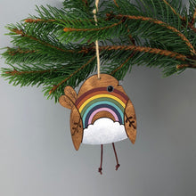 Load image into Gallery viewer, Rainbow Robin Hanging Decoration