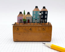 Load image into Gallery viewer, Pencil Houses on Vintage Ruler Street