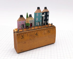 Pencil Houses on Vintage Ruler Street