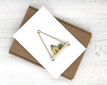 Load image into Gallery viewer, Miniature Pencil House Handmade Card - Keepsake Card - Suitable for any Occasion, including New Home/Housewarming