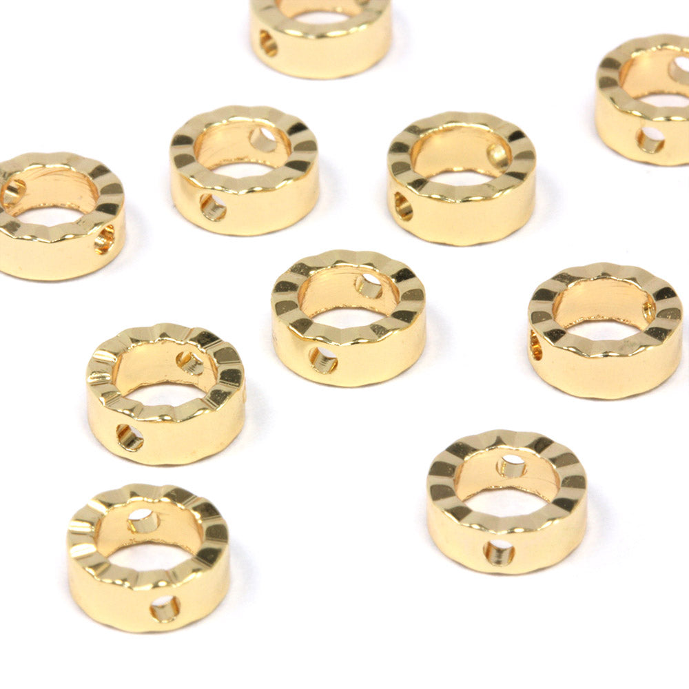 Cut Ring 11mm Gold Plated - Pack of 10