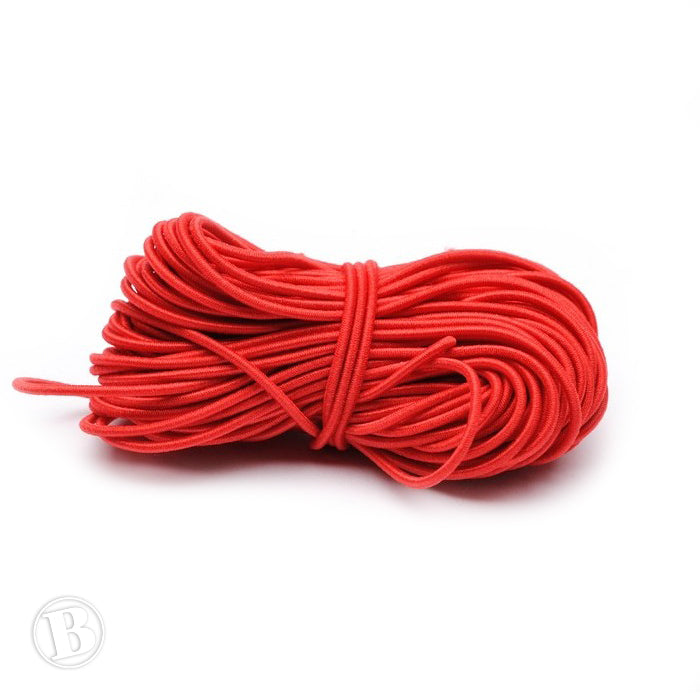 Coloured Elastic Red Elastic 1mm-Pack of 10m