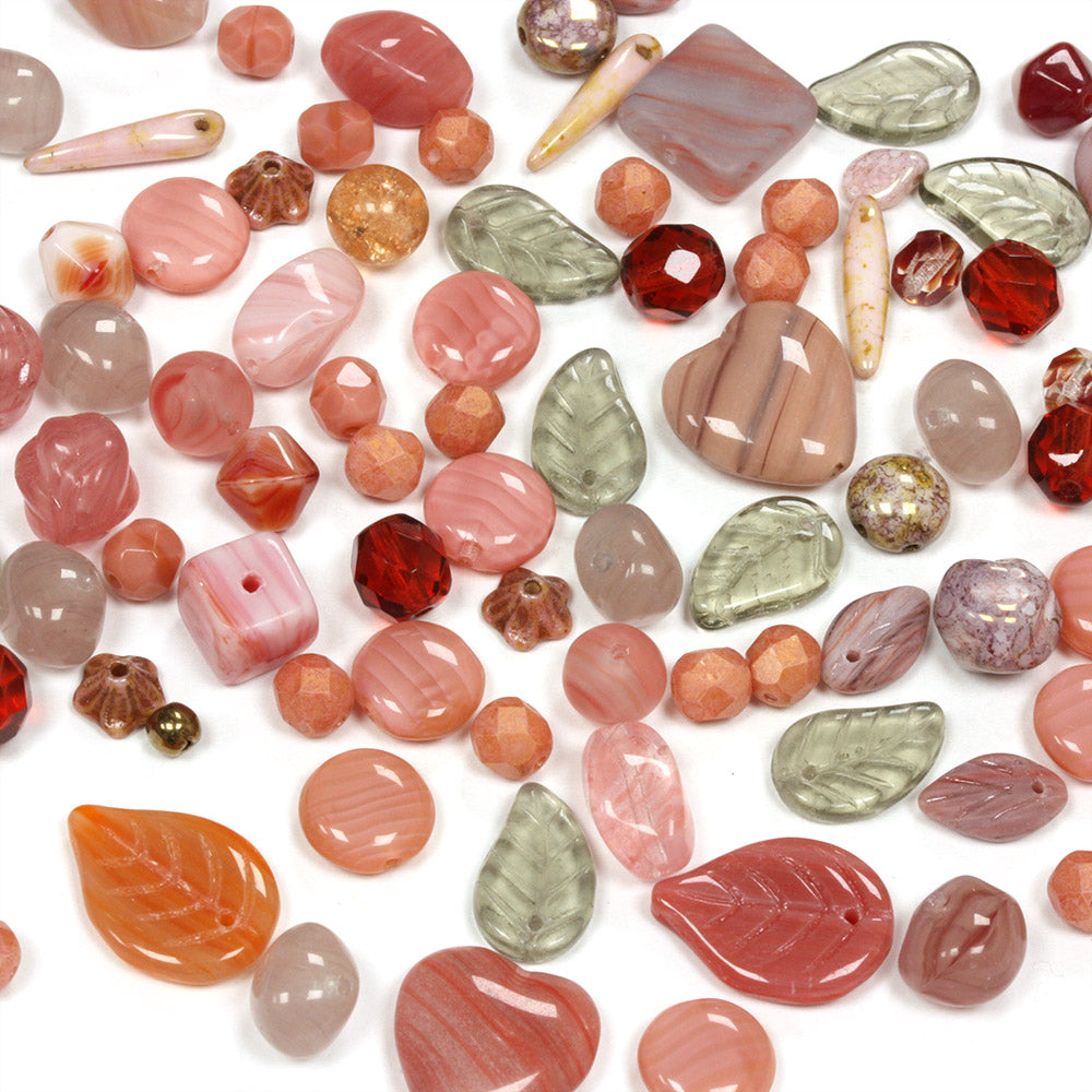 Pressed Glass Mix Dusty Rose - Pack of 50g