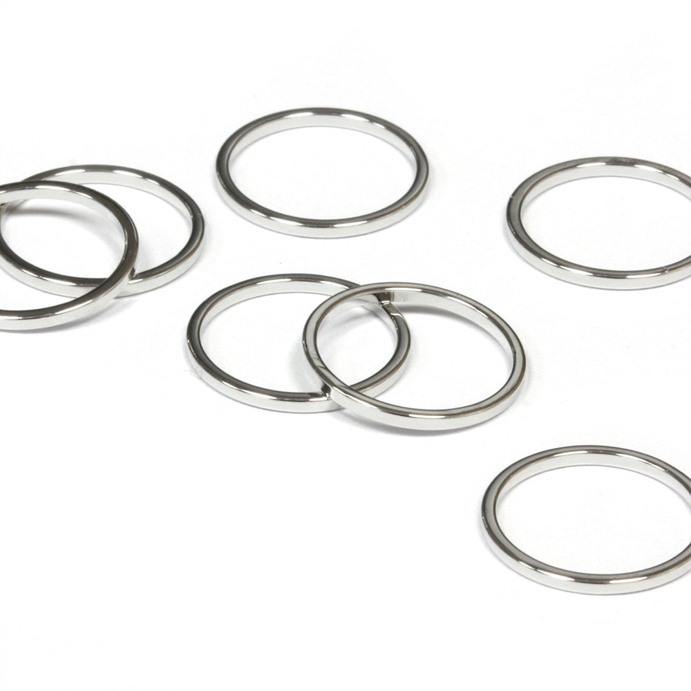 Open Circle Links 12mm Silver Plated - Pack of 10