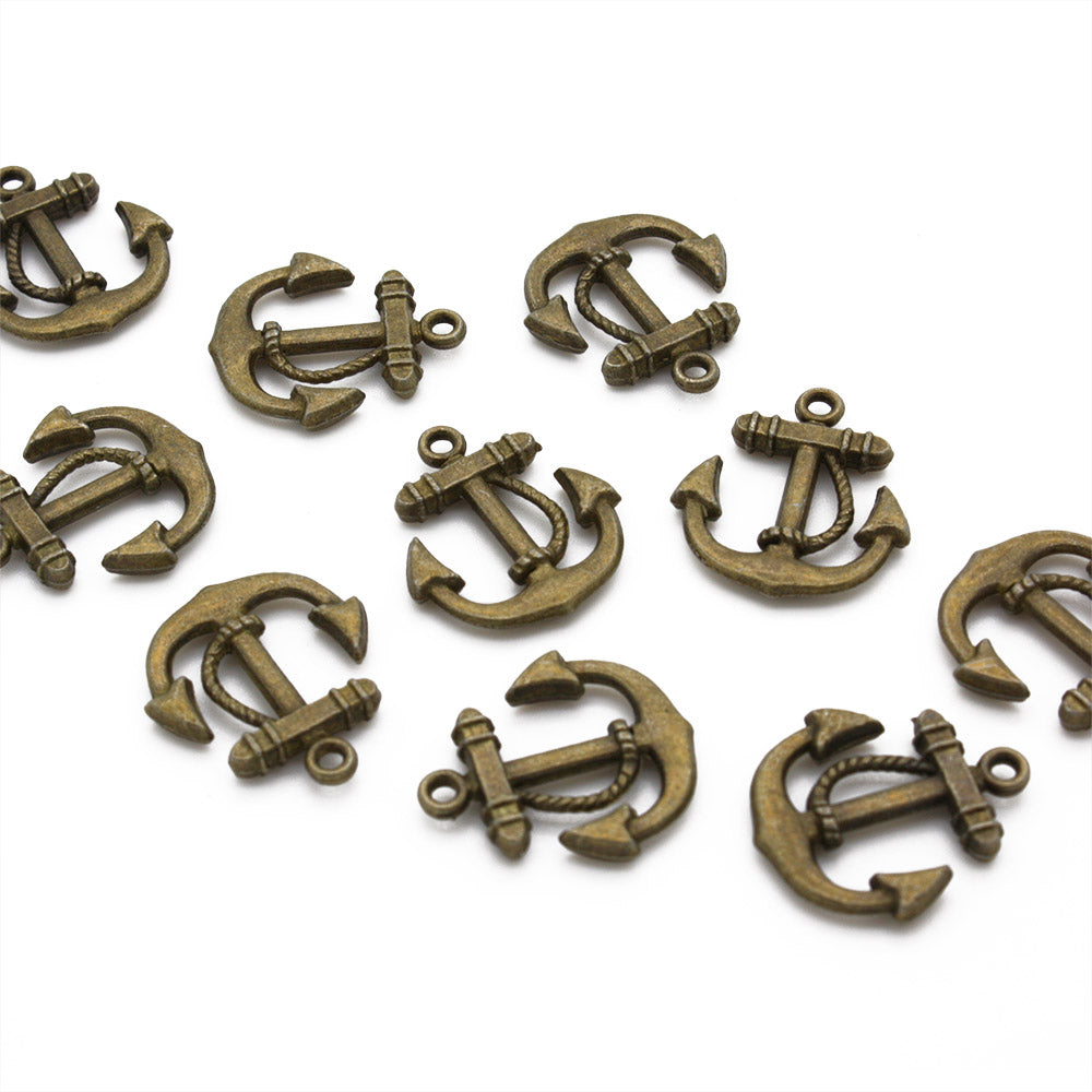 Large Anchor Gold Plated 19X20mm-Pack of 10