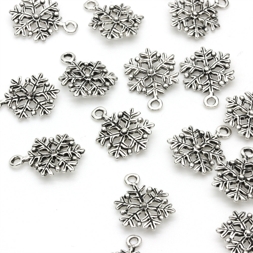 Snowflake Antique Silver 17x12mm - Pack of 1