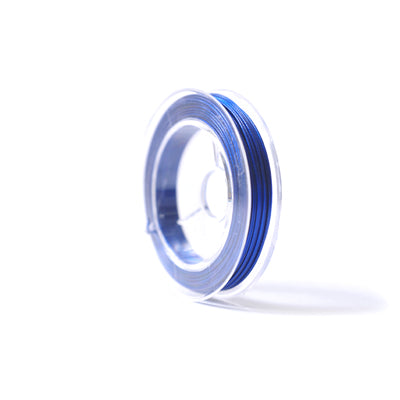 Plastic Coated Royal Blue Beading Wire 0.45mm-Reel of 10m
