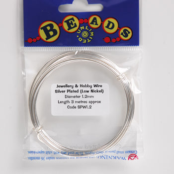 Silver Plated Wire 1.2mmx3M-Pack of 3m